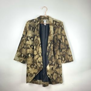 Alberto Makali abstract open cardigan Medium